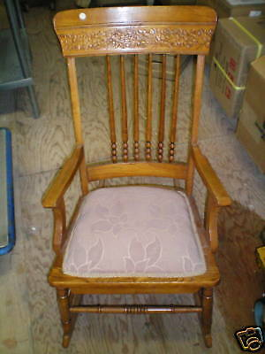 Antique  Rocking Chair Detailed Carving  Low Price