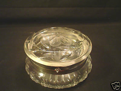 Lovely American Brilliant Period Cut Glass Dresser Box