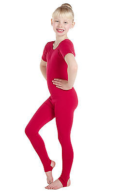 Lycra Catsuit Short Sleeve Plain Front - Ballet Colours (#HOLLY)