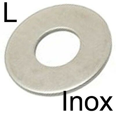 RONDELLE plate L large - INOX A2 - M4 (40)