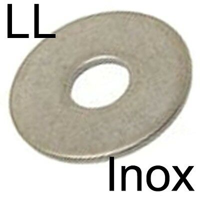 RONDELLE plate LL extra large - INOX A2 - M4 (30)