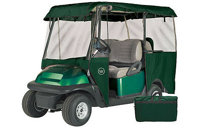 Drivable 4 Person Golf Car Cart Cover Enclosure Green