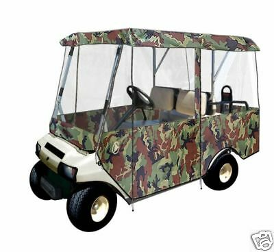 Drivable 4 Passenger Golf Car Cart Cover Enclosure Camo