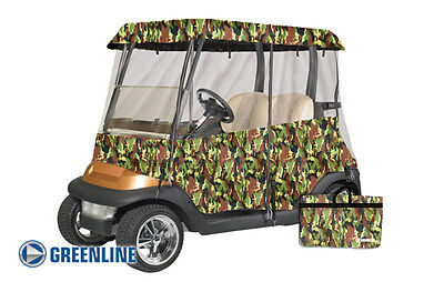 Premium Drivable 2 Passenger Golf Car Cart Cover Enclosure Camo