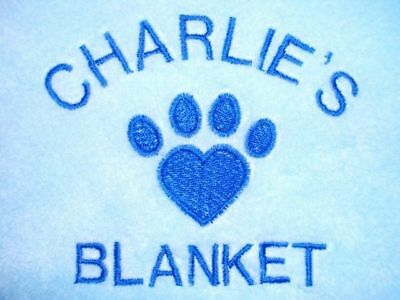 Personalised Dog / Cat Blanket Available In 9 Colours