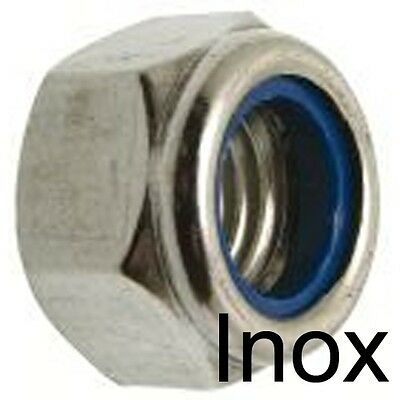 ECROU FREIN NYLSTOP - INOX A2 - indesserrable M5 (25)