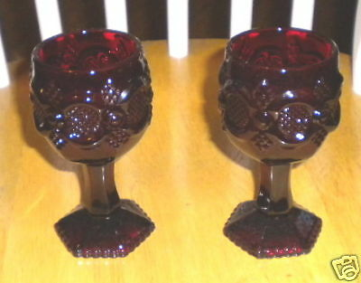 Ruby Red Avon Cape Cod Goblets