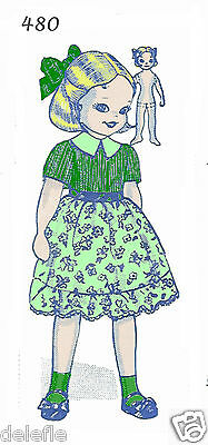 480 Design Soft Doll Pattern with Clothes Mail Order