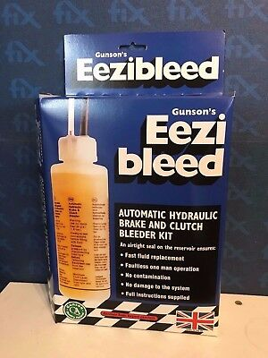 GUNSON ORIGINAL UK EEZIBLEED - Brake Clutch Bleeder Bleeding Tool Home DIY Tool