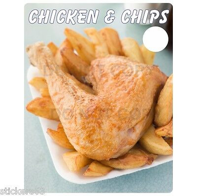 chicken and chips Giant vinyl poster sticker catering  Cafe, Fish & Chip Shop