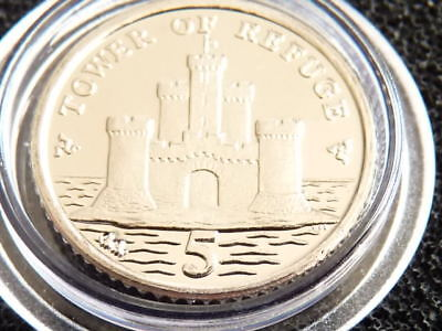 2010 Isle of Man 5p coin BU Tower of Refuge
