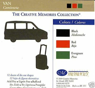 Creative Memories Van & Luggage Die Cut Bn & Nla