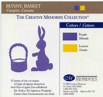 Creative Memories Bunny & Basket Die Cut Bn & Nla