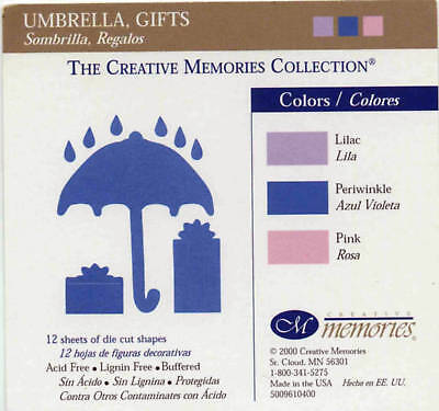 Creative Memories Umbrella & Gifts Die Cut Bn & Nla