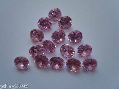2 x 5mm round pink cubic zirconia loose gemstone for £1.