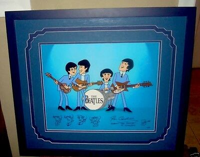 Beatles Cartoons Cel Color Model Proof Rare Animation Signed Ron Campbell Cell