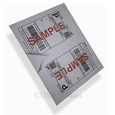 200 PAYPAL USPS SHIPPING ADDRESS LABELS 2 PER 8.5x11