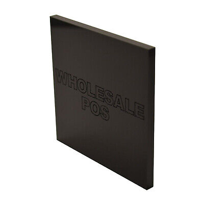 10Mm Thick Gloss Black Acrylic Perspex Sheet Cast Plastic Material A4 10Mm