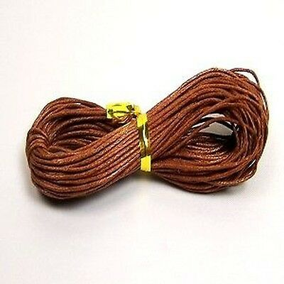 30 meters Coffee Waxed Cotton Thong Cord - C0003 / 1mm