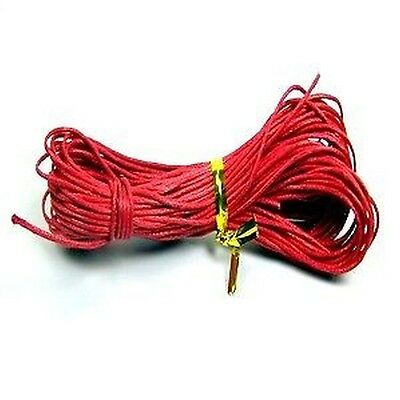 30 meters Red Waxed Cotton Thong Cord - C0004 / 1mm