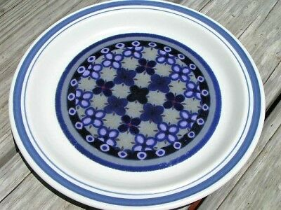 Tangier by Royal Doulton DINNER PLATE blue geometric