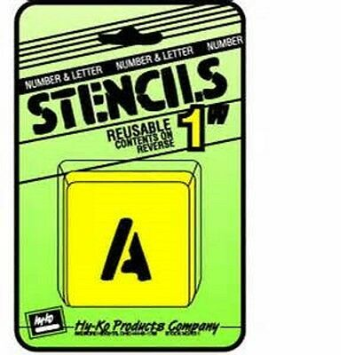 """Assorted 1"""" Number & Letter Stencils by Hy Ko ST-1 NEW"""