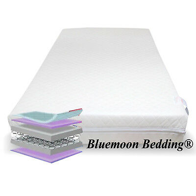 Unbound Pocket Spring Interior Cot Bed Mattress, BREATHABLE QUILTED 140x70x13cm