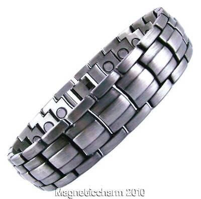 New arrivals! MENS BIO MAGNETIC GUN METAL HEALING BRACELET FOR ARTHRITIS