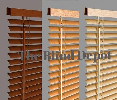 New Wood Wooden Effect Pvc Venetian Blind Blinds In 3 Colours And 10 Sizes