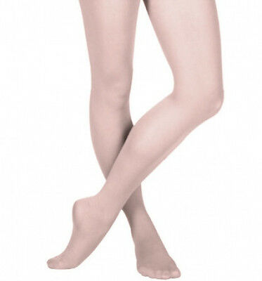 Capezio 14 Ballet Pink Women's Size Large (12-14) Hold and Stretch Footed Tights