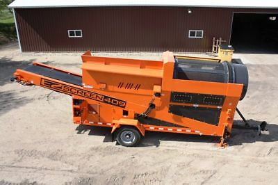 EZ-Screen 409 Trommel Portable Topsoil and Compost Screener