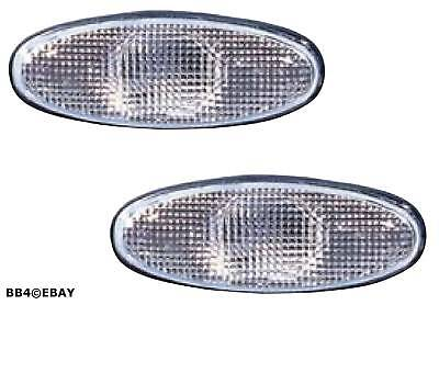 White Replacement Side Guard Indicators for Lights Holden Commodore Clear VX