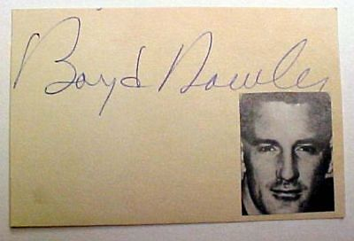 Boyd Dowler Autographed Index Card