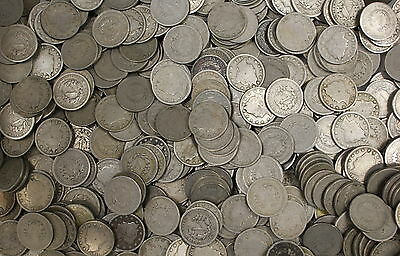 1 Roll of Liberty V Nickels, 40 Coins, Old US Lot
