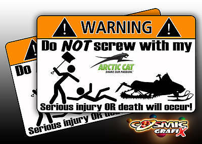 Artic Cat warning sticker Snowmobile mountain sled