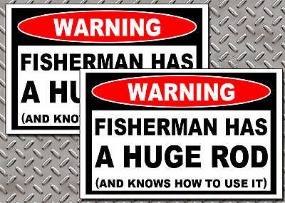 Fisherman Huge Rod Fishing Tackle Box Warning Sticker