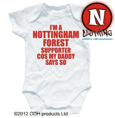 NOTTINGHAM SUPPORTER football baby suit 0-3 month