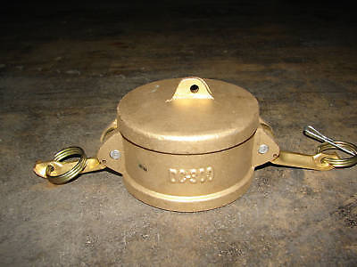 "Kamlok Dc-300 Camlock 3"" Brass Hose Fitting/coupling Dust Cap ***nnb***"