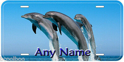 Dolphins Jumping Novelty Any Name Personalized Aluminum Car License Plate