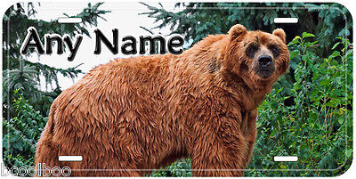 Brown Bear Aluminum Auto Tag Personalized Novelty License Plate