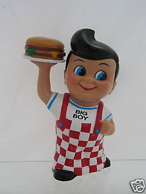 Collectible Frisch's Big Boy Bank with hamburger - Nice