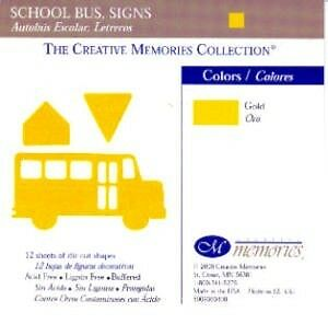 Creative Memories Schoolbus & Signs Die Cut Bn & Nla