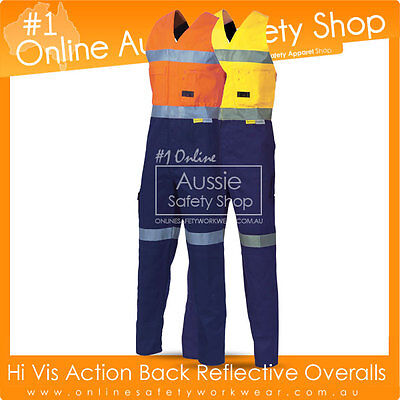 Hi Visibility Action Back Overalls + 3M Reflective Tape