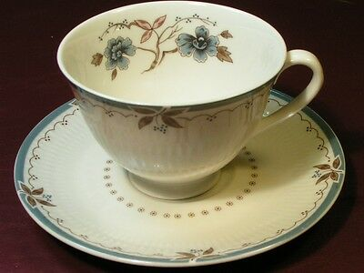 Old Colony by Royal Doulton CUP + SAUCER blue flowers