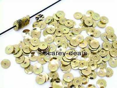 7mm GOLD Sequins DRESS Trimmings Paillette Sewing Embellishment 1st class post