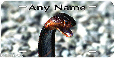 Cobra Snake Personalized Any Name Aluminum Car License Plate