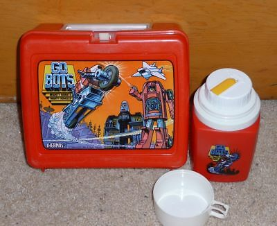 1984 Thermos Go Bots Plastic Lunchbox with Thermos