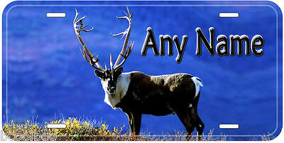 Antlers Deer Novelty Auto Car Tag Aluminum License Plate