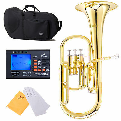 NEW CECILIO AH-280 High Quality Gold Brass Eb ALTO HORN