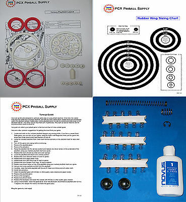 1987 Gottlieb/Premier Victory Pinball  Tune-up Kit - Includes Rubber Ring Kit